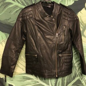 New Urban Outfitters Real Leather Moto Jacket